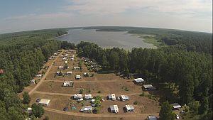 Luftbild des FKK-Campingplatzes