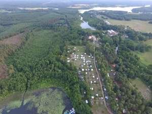 Luftbild Campingplatz Ferienidyll am Rätzsee - Camping bei Motte