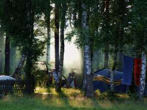 Campinplatz Fereinidyll am Rätzsee Der Rätzsee in voller Länge